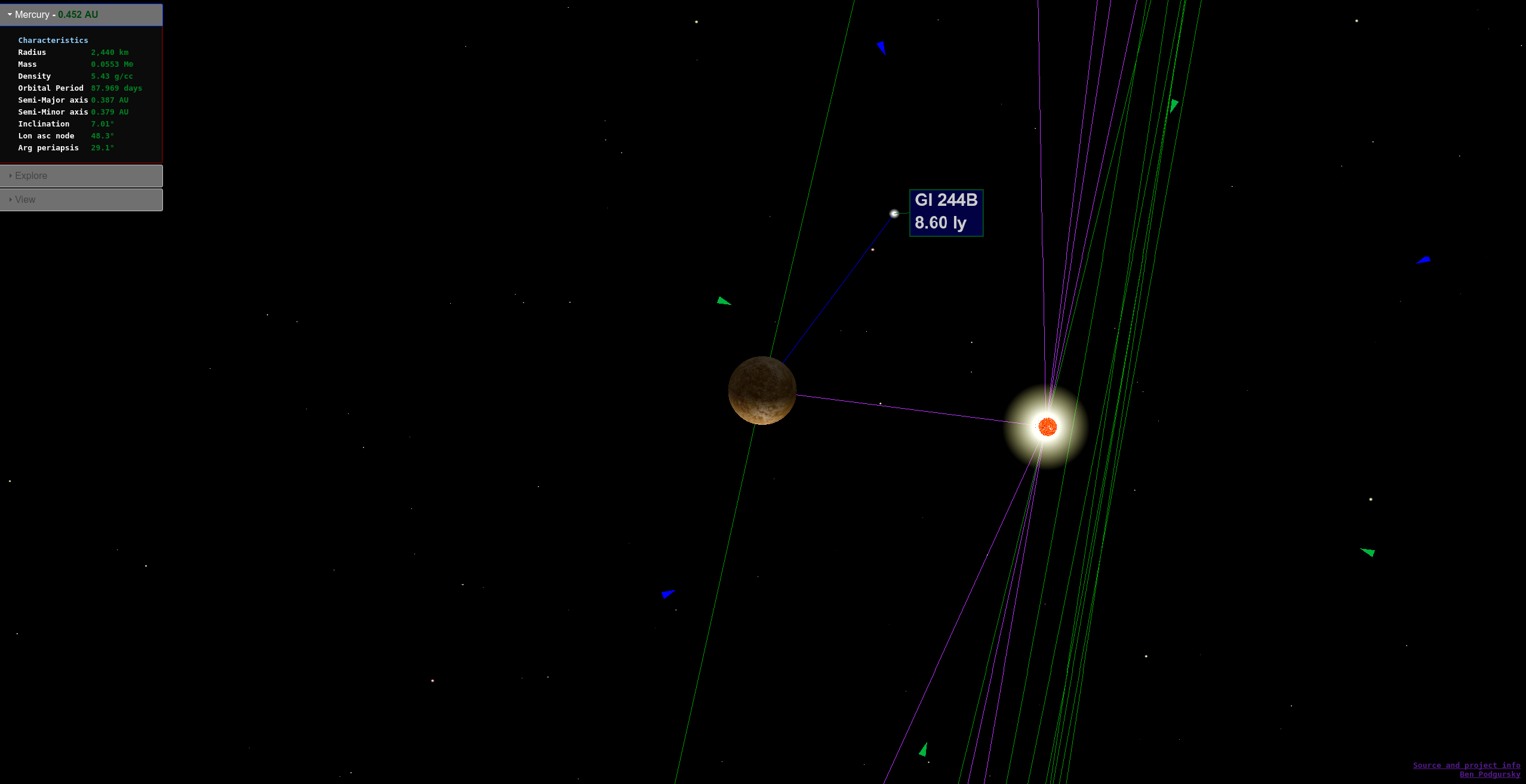 D Map Of Solar Neighborhood Using Threejs Again Ben Podgursky - Accurate map of the solar system